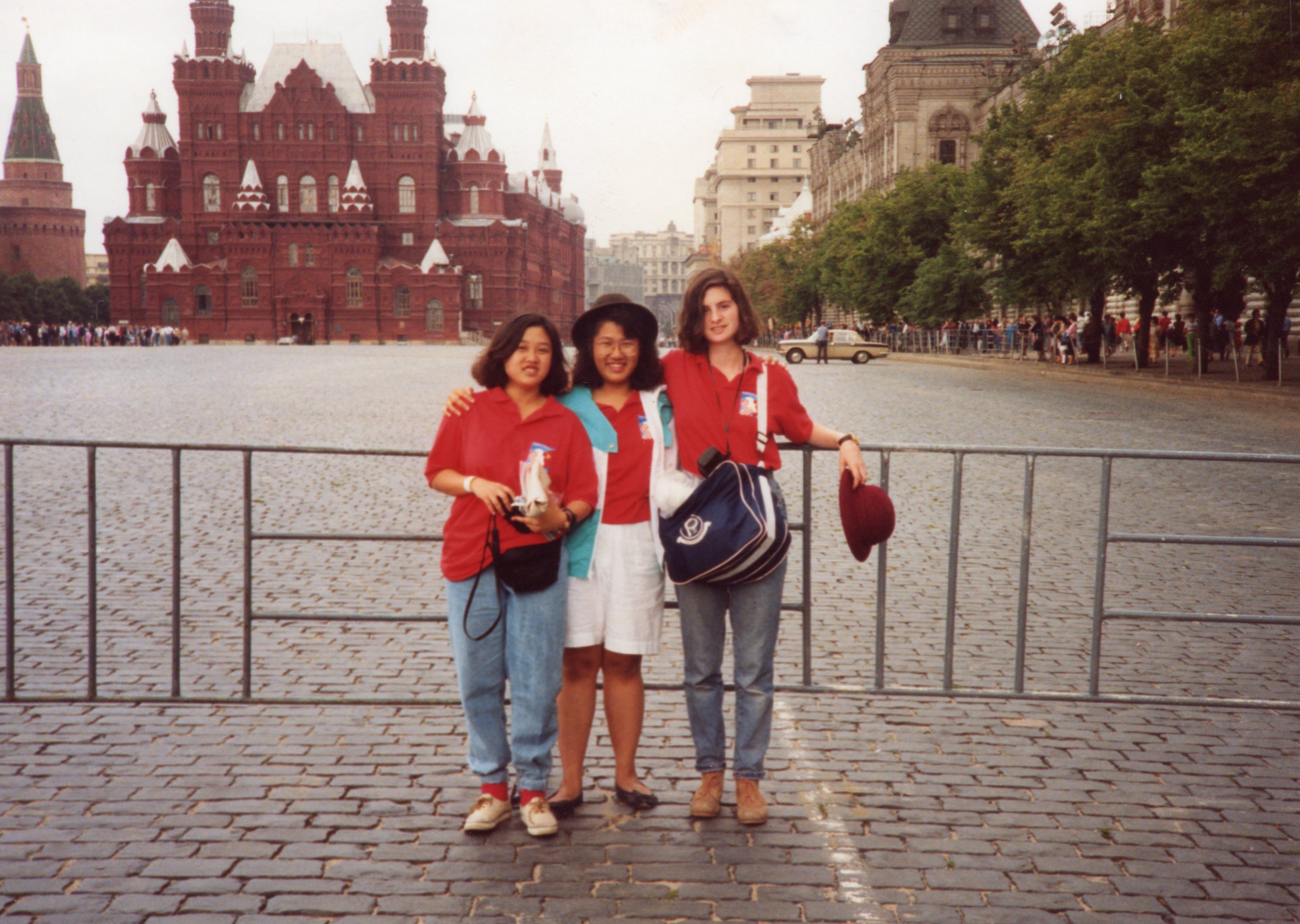 Me and friends in Red Square, summer 1991
